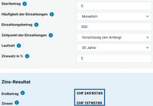 Vorsorge Schweiz ajooda 35 Jähriger - 300Fr