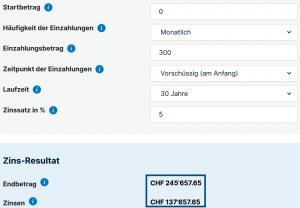 Vorsorge Schweiz 35 Jähriger - 300Fr